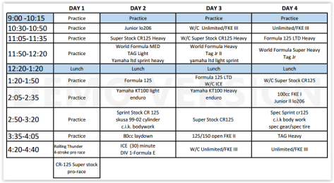 Grands Schedule